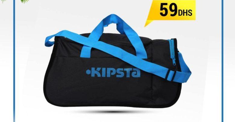 Promo Decathlon Sac de sports collectifs Kipocket 40litres gris foncé bleu 59Dhs au lieu de 79Dhs