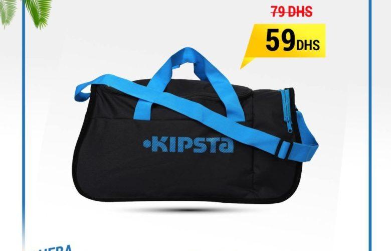 6afde3c65a Promo Decathlon Sac de sports collectifs Kipocket 40litres gris foncé bleu  59Dhs