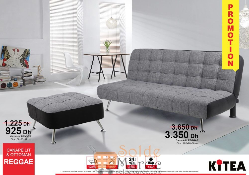 Promo Kitea Canapé lit & Ottoman REGGAE