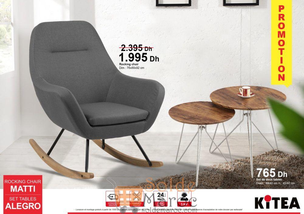 Promo Kitea Rocking Chair MATTI 1995Dhs au lieu de 2395Dhs