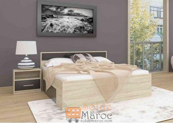 Promo Azura Home LIT KLEO 160 CM 1390Dhs au lieu de 2990Dhs