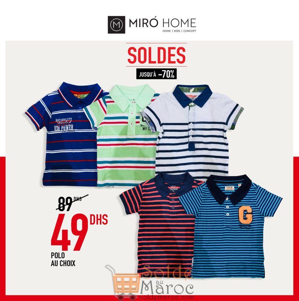 Soldes Miro Home Polo au choix Garçon 49Dhs au lieu de 89Dhs
