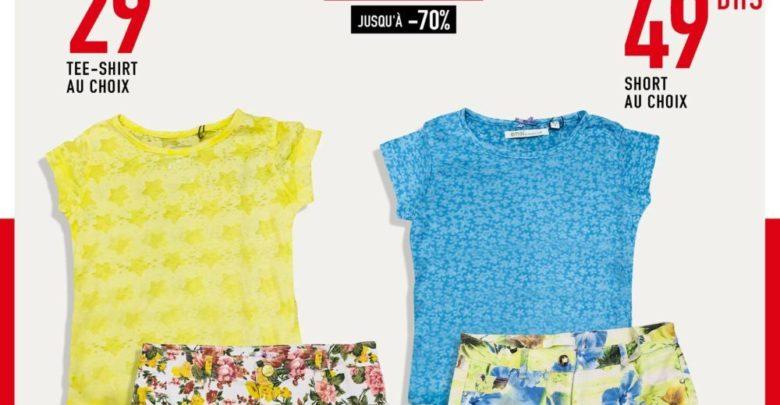 Photo of Soldes Miro Home Tee-shirt et Short pour filles au choix
