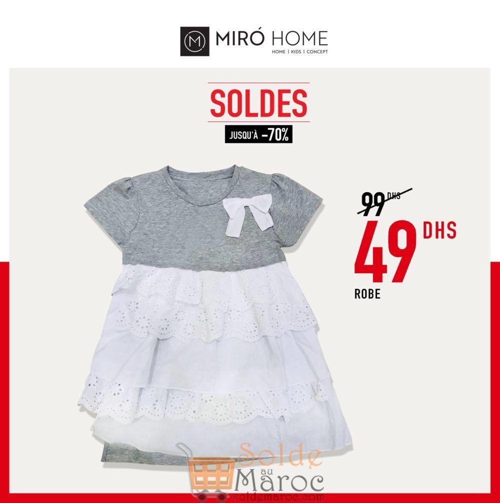 Soldes Miro Home Robe pour fille 49Dhs au lieu de 99Dhs