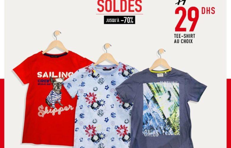 Soldes Miro Home Large choix Tee-Shirt 29Dhs au lieu de 79Dhs