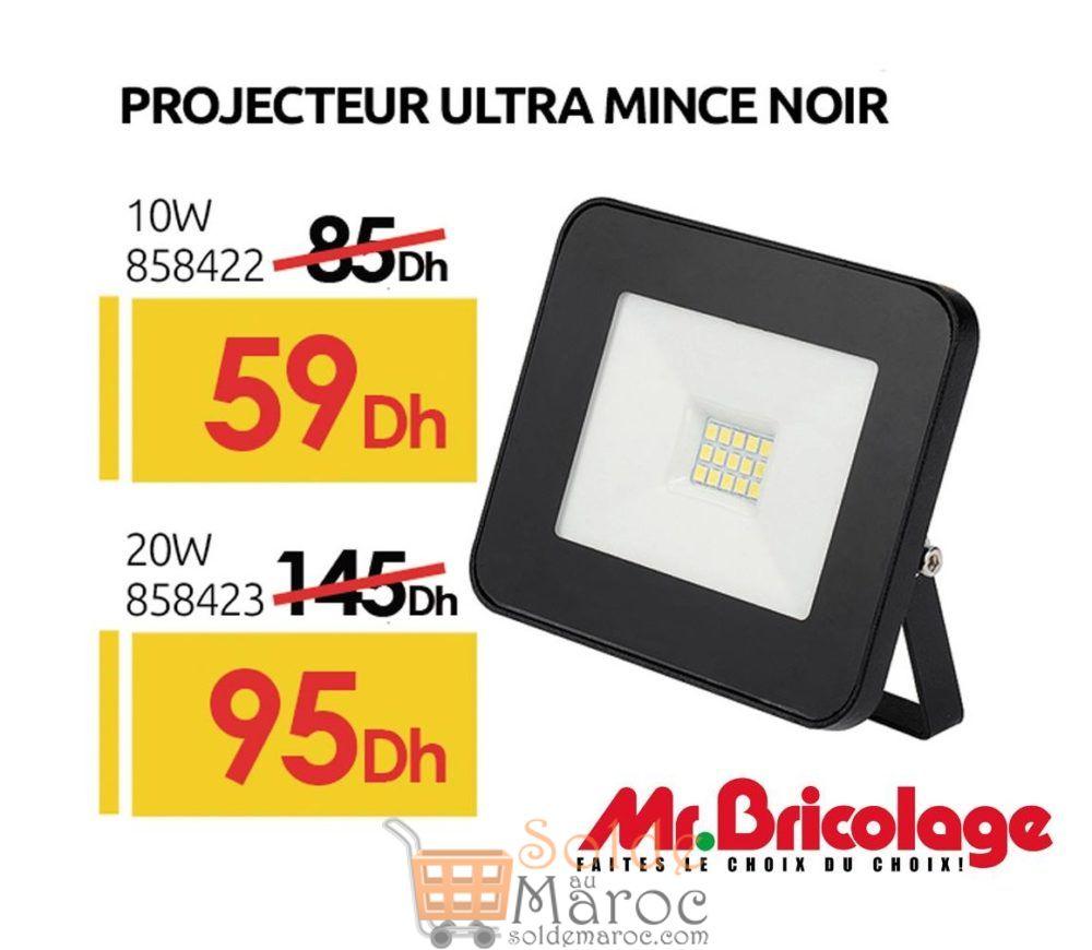 Promo Mr Bricolage Maroc Projecteur ultra mince 10w/20w
