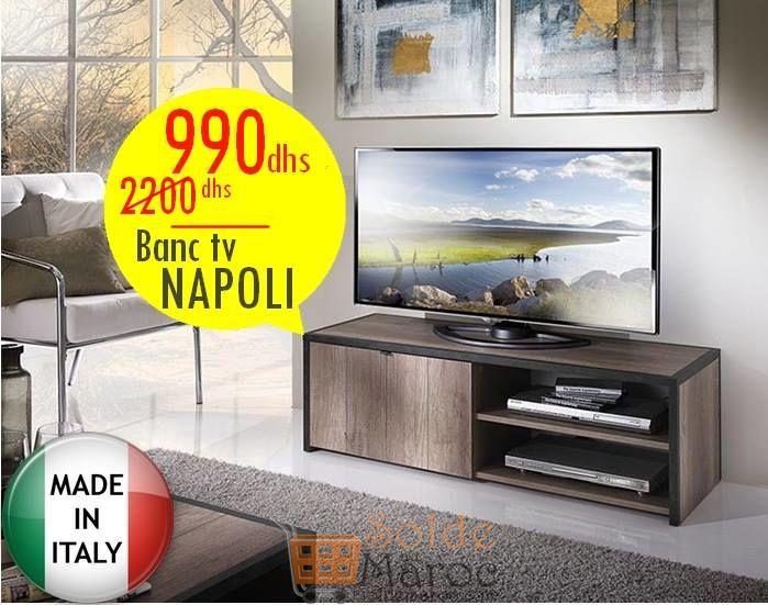 Soldes Azura Home MEUBLE TV NAPOLI 990Dhs au lieu de 2220Dhs