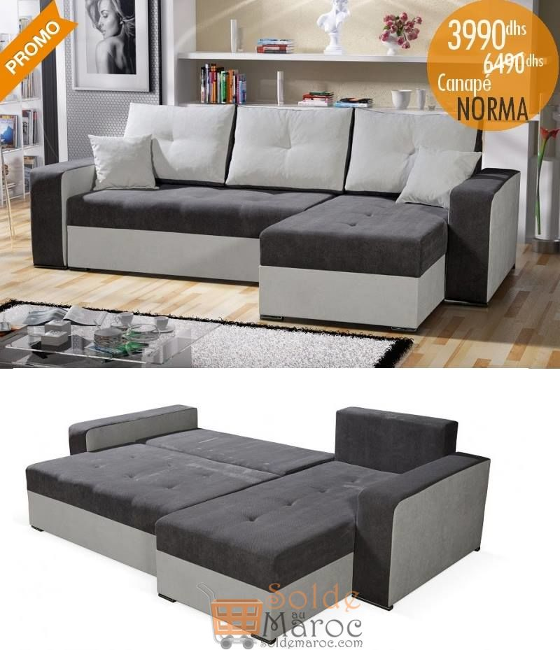 Promo Azura Home CANAPÉ D'ANGLE NORMA 3990Dhs au lieu de 6490Dhs