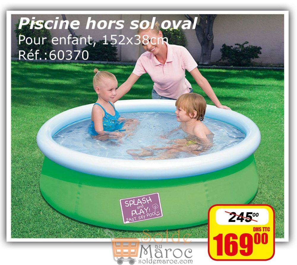 promo bricoma piscine enfant hors sol oval 169dhs les. Black Bedroom Furniture Sets. Home Design Ideas