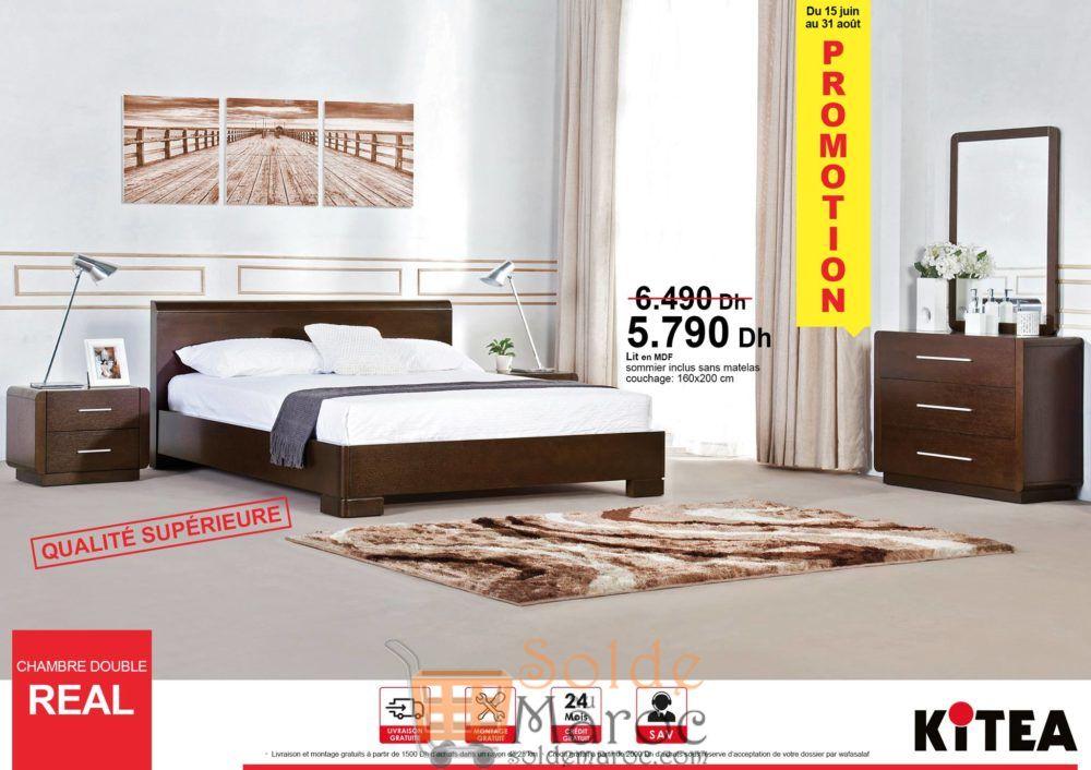 Promo Kitea Chambre double REAL 5790Dhs au lieu de 6490Dhs