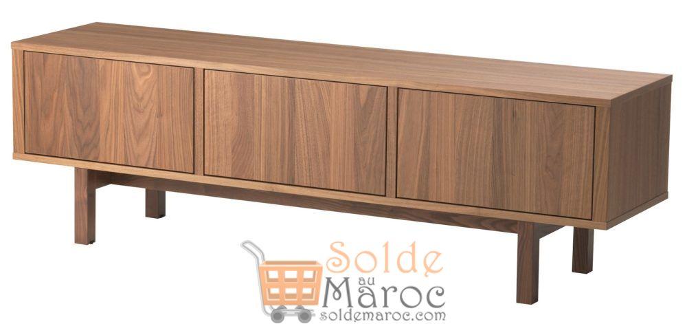 Soldes Ikea Maroc STOCKHOLM meuble TV placage noyer 3999Dhs au lieu de 5495Dhs