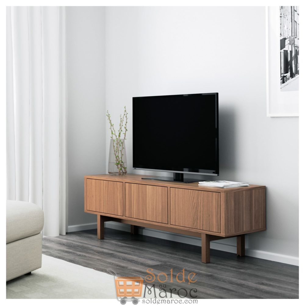 soldes ikea maroc stockholm meuble tv placage noyer. Black Bedroom Furniture Sets. Home Design Ideas