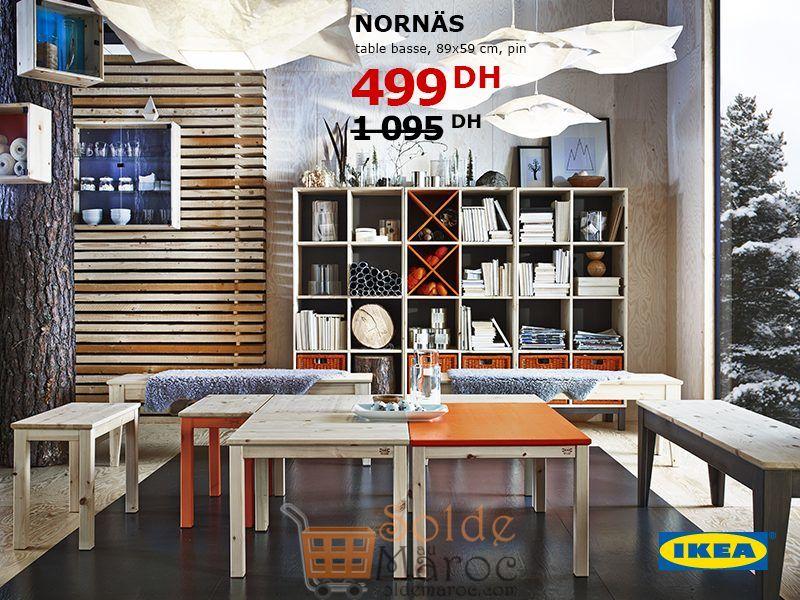 Soldes Ikea Maroc Table Basse NORNAS 499Dhs au lieu de 1095Dhs