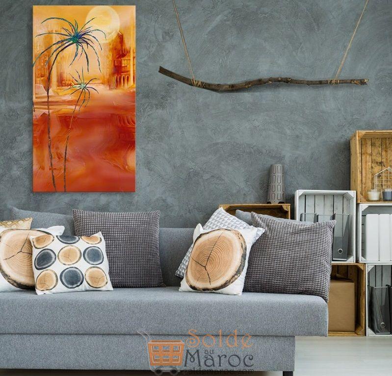 Promo Massinart Tableau décoratif Sahara painting imprimé en HD 181Dhs au lieu 259Dhs