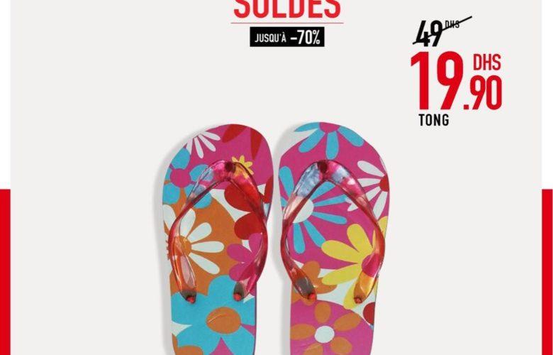 Promo Miro Home Sélection de tongs Feminine pour plage 19.90Dhs au lieu de 49Dhs