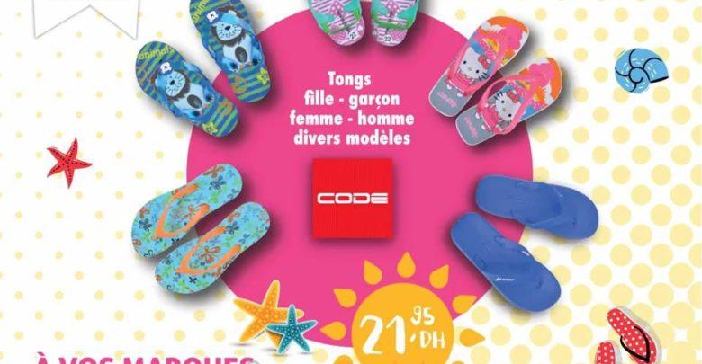 Nouveau chez Code Maroc Tongs Divers Modèles 21.95Dhs