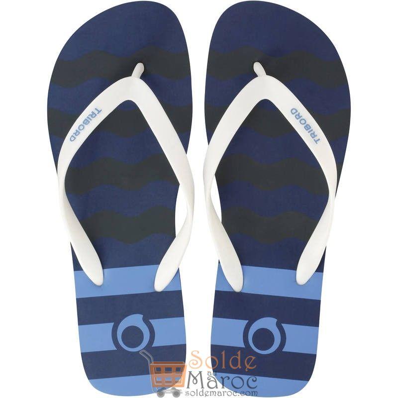 Promo Decathlon Tong Homme TO100S PRINT Ola Bleu 25Dhs au lieu de 35Dhs