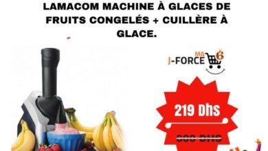Promo Jumia Lamacom Machine à Glaces de Fruits Congelés + Cuillère à Glace 219Dhs au lieu de 600Dhs