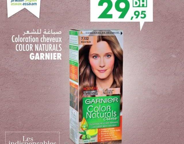 Promo Aswak Assalam Garnier Color Naturals 29.95Dhs au lieu de 35.90Dhs