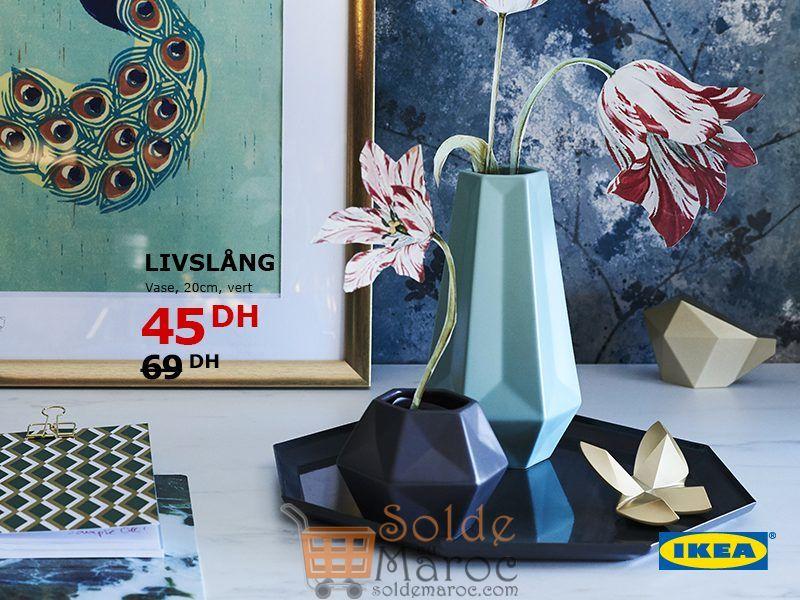 Soldes Ikea Maroc Vase vert LIVSLÅNG 45Dhs au lieu de 69Dhs