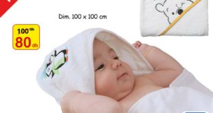 Soldes Alpha55 Serviette de bébé avec capuche 80Dhs au lieu de 100Dhs