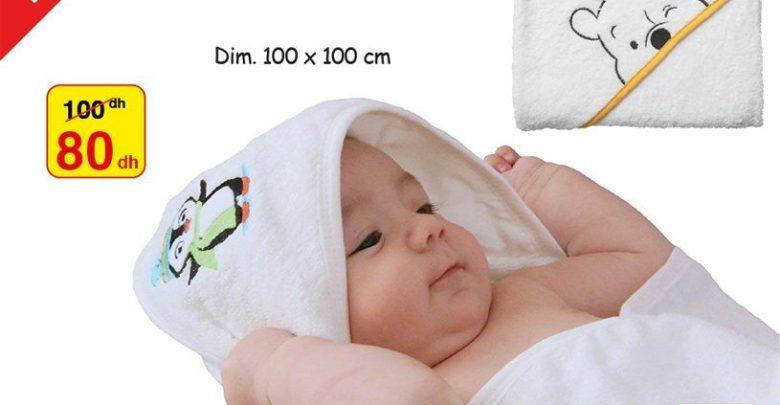 Photo of Soldes Alpha55 Serviette de bébé avec capuche 80Dhs