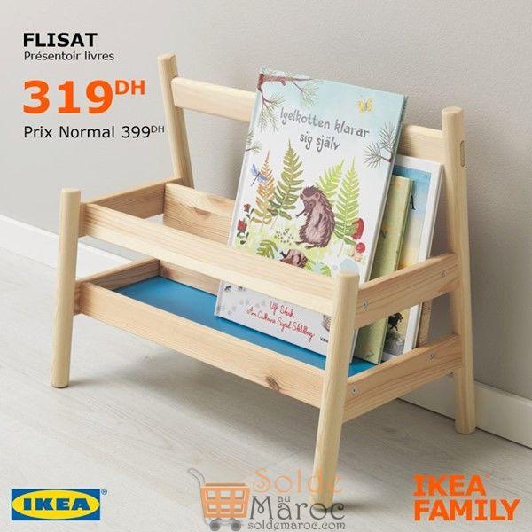 Soldes Ikea Family Présentoir Livres FLISAT 319Dhs au lieu de 399Dhs