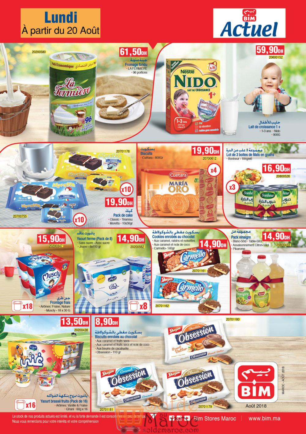 Catalogue Bim Maroc du Lundi 20 Août 2018