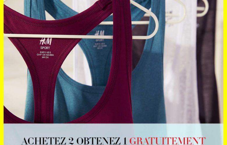 Promo H&M Maroc Achetez 2 Articles de Sport Obtenez 1 Gratuitement