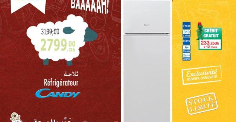 Promo Aswak Assalam Réfrigérateur CANDY 2799Dhs au lieu de 3199DHs