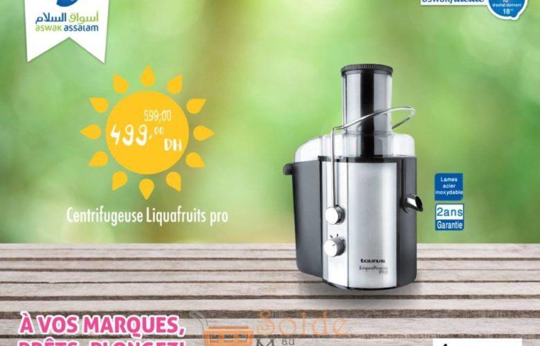 Promo Aswak Assalam Centrifugeuse Liquafruits Pro 499Dhs au lieu de 599Dhs