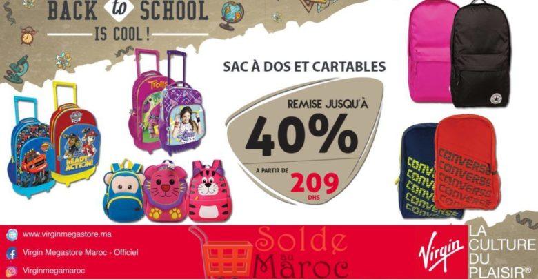 Photo of Promo Virgin Megastore Maroc Sac à Dos et Cartable jusqu'à -40% de Remise