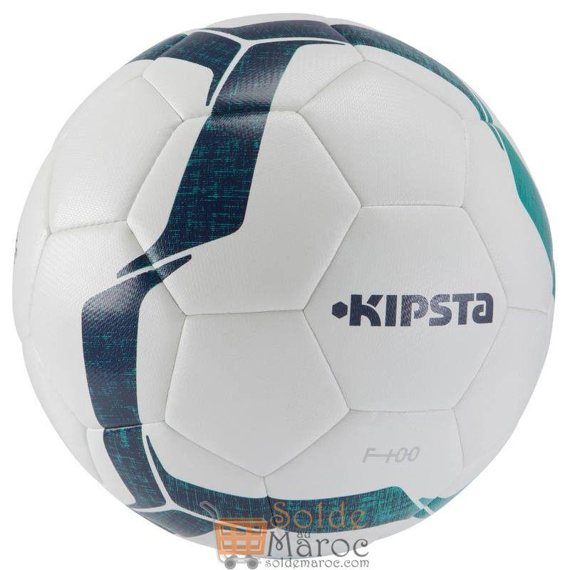 Promo Decathlon Ballon de football F100 Hybride taille 4 blanc vert 79Dhs au lieu de 109Dhs