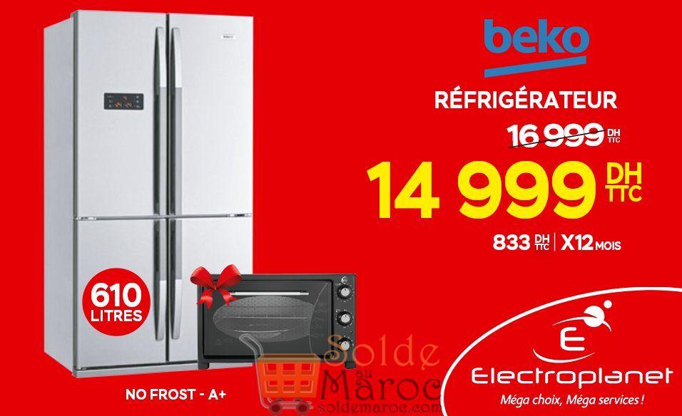 Promo Electroplanet Réfrigérateur BEKO 14999Dhs au lieu de 16999Dhs