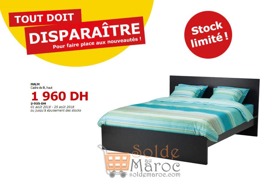Tout doit disparaître Ikea Maroc Cadre de lit MALM 1960Dhs au lieu de 2935Dhs