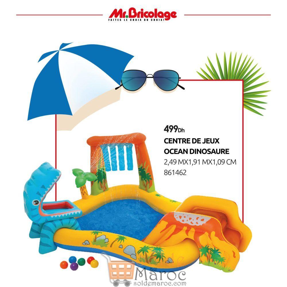 Nouveau chez Mr Bricolage Maroc Centre de jeux OCEAN Dinosaure Gonflable 499Dhs