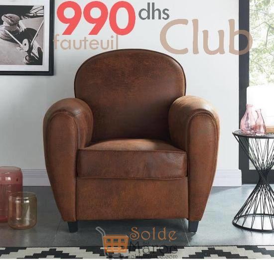 Promo Azura Home FAUTEUIL CLUB 990Dhs au lieu de 1490Dhs