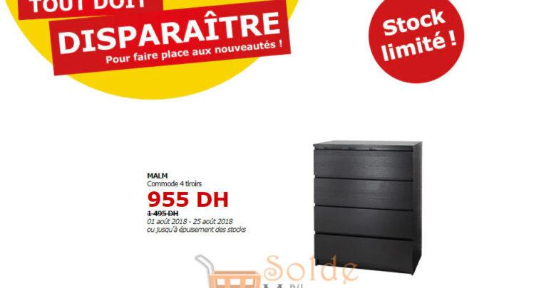 Photo of Tout doit disparaître Ikea Commode 4 Tiroirs MALM 959Dhs