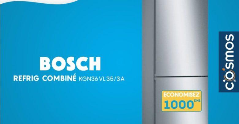 Soldes Cosmos Electro Réfrigérateur Combiné BOSCH 6799Dhs au lieu de 7999Dhs