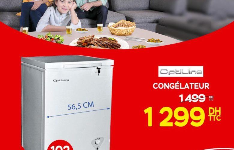 Promo Electroplanet Congélateur OPTILINE 1299Dhs au lieu de 1499Dhs
