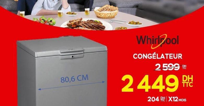 Promo Electroplanet Congélateur coffre Whirpool 2449Dhs au lieu de 2599Dhs