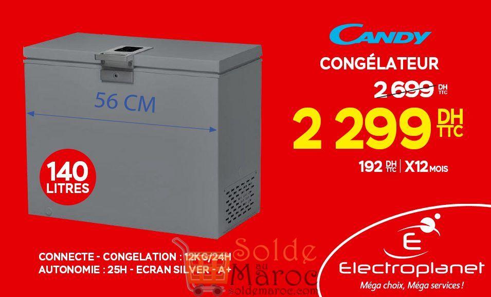 Promo Electroplanet Congélateur CANDY 2299Dhs au lieu de 2699Dhs