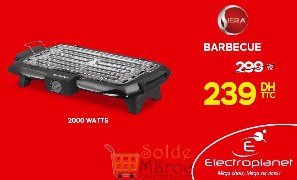 Promo Electroplanet Barbecue SIERA 239Dhs au lieu de 299Dhs