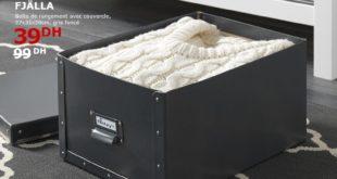 Soldes Ikea Maroc Boite de rangement avec couvercle FJÄLLA 39Dhs au lieu de 99Dhs