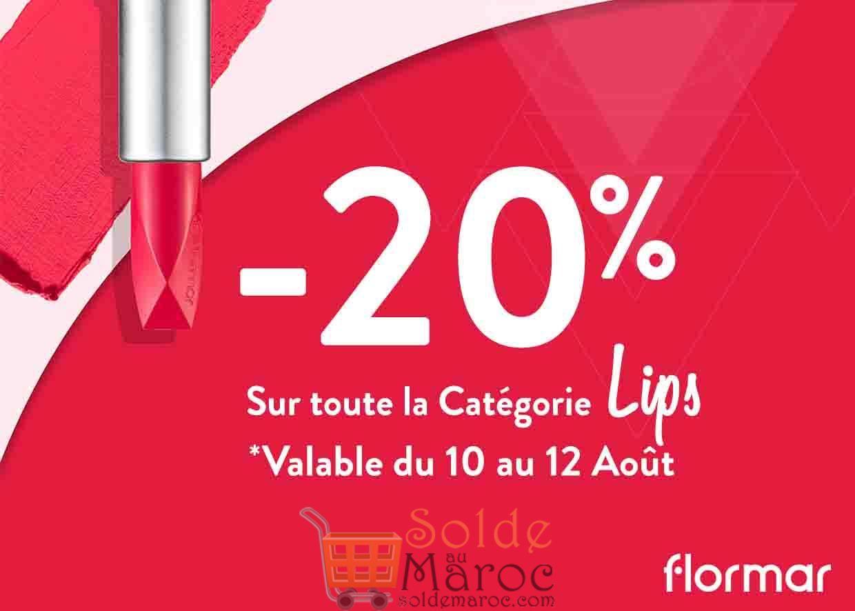 Promo Flormar Maroc -20% sur TOUTE LA CATÉGORIE LIPS Jusqu'au 12 Août 2018