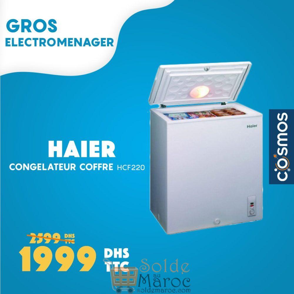 promo cosmos electro cong lateur coffre haier 1999dhs solde et promotion du maroc. Black Bedroom Furniture Sets. Home Design Ideas