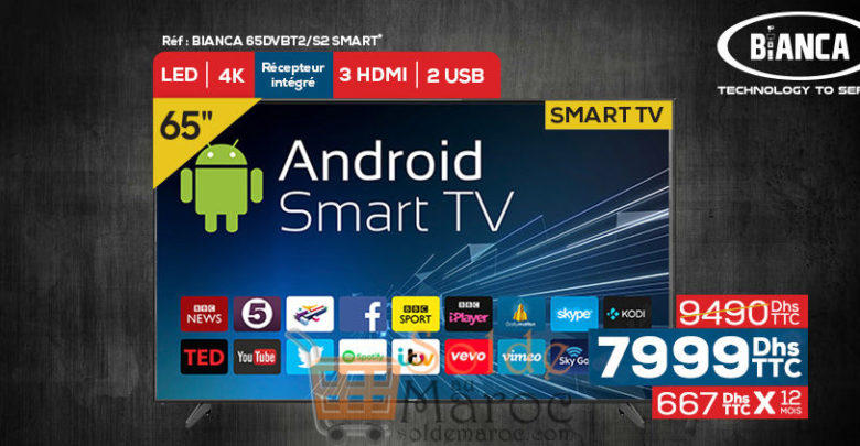 Photo of Promo Le Comptoir Electro Smart TV 65″ Android 4K BIANCA 7999Dhs