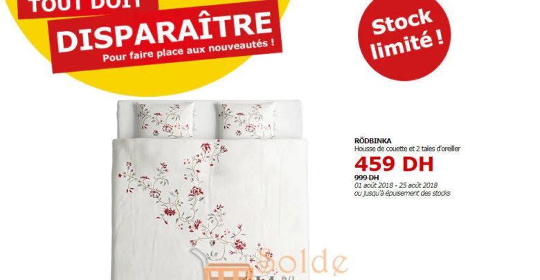 Photo of Tout doit disparaître Ikea Maroc Housse de couette et 2 taies d'oreiller RODBINKA 459Dhs