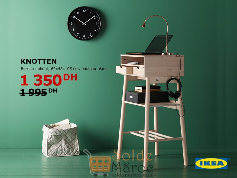 soldes ikea bureau debout knotten 1350dhs solde et. Black Bedroom Furniture Sets. Home Design Ideas