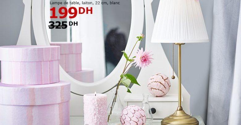 Soldes Ikea Maroc Lampe de table ÅRSTID laiton blanc 199Dhs au lieu de 325Dhs